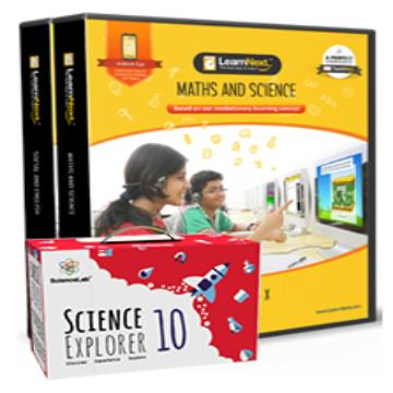 CBSE 10 Maths, Science, English and Social Science with All India Test Series, Science Kits