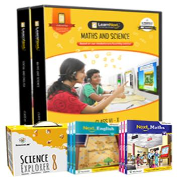 CBSE 8 Maths, Science, English and Social Science with All India Test Series, Science Kits, English Book and Maths Book